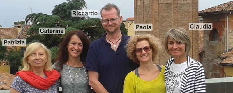Patrizia Govoni, Caterina Alvisi, Riccardo Sabbadini, Paola Cavazzi e Claudia Piazzi